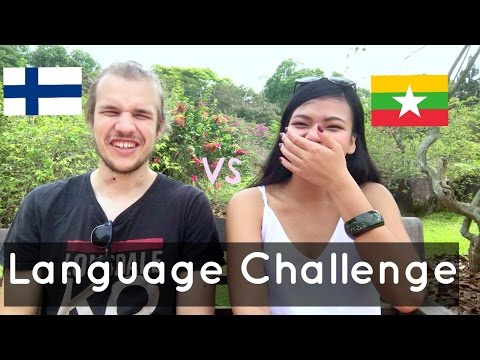 Language Challenge| Finnish Vs Burmese| 🇲🇲 🇫🇮