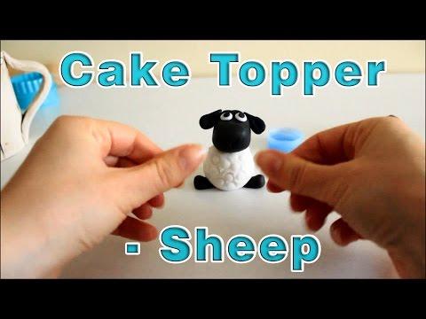 How To Make Sugar Paste Icing Fondant Sheep Cake Topper