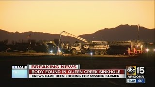 Body discovered in sinkhole