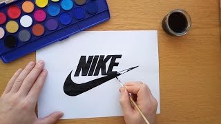 How to draw the Nike logo (Logo drawing)