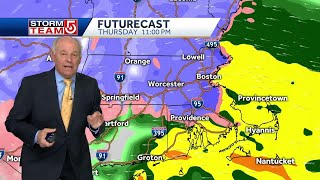 Video: Nor'easter quickly bringing heavy snow