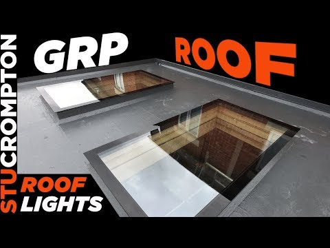 Building Extension - GRP Roof Done And Roof Light Glass Installed.