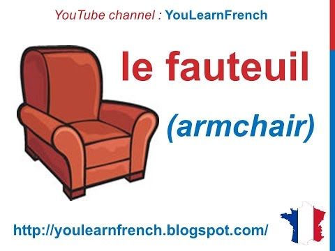 french lesson 88 furniture in french vocabulary les meubles en fran ais los muebles en franc s. Black Bedroom Furniture Sets. Home Design Ideas