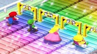 Mario Party 7 MiniGames - Mario Vs Luigi Vs Daisy Vs Peach (Master Cpu)
