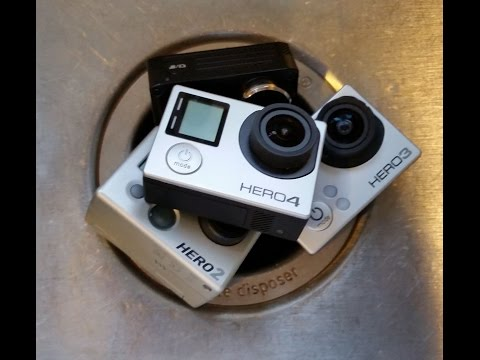 A look inside a garbage disposal with a Go Pro