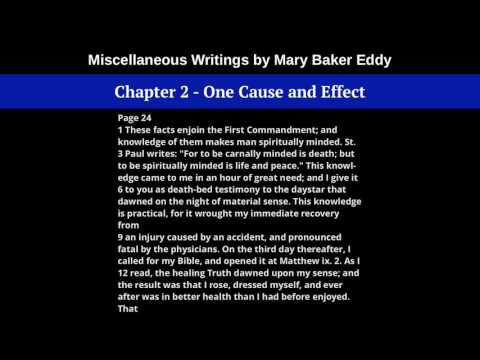 Chapter 2 - One Cause and Effect, from Miscellaneous Writings, by Mary Baker Eddy