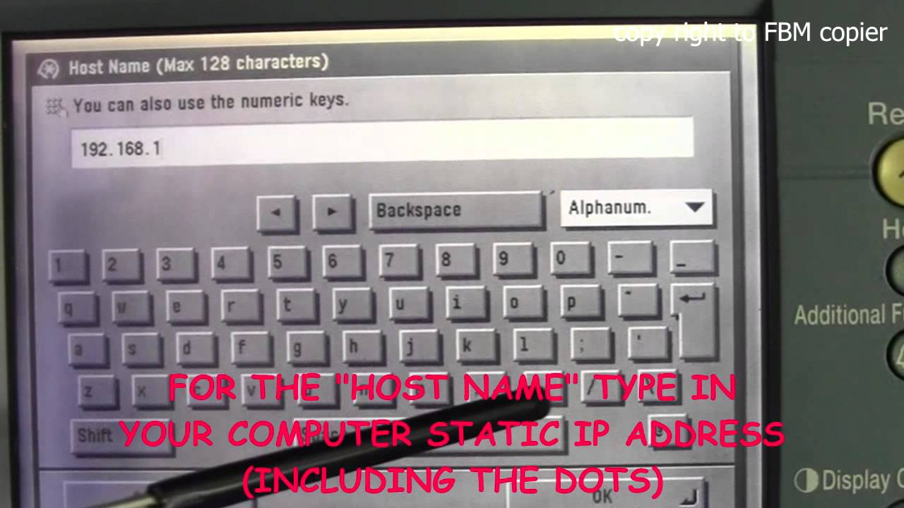 How to create FTP Scan account on Canon IR Series Copy Machine
