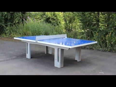 Maillith Outdoor Tischtennistische Aus Polymerbeton Youtube
