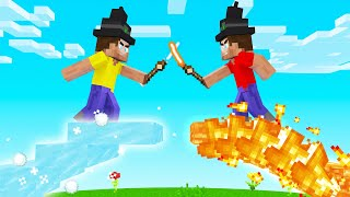 We Became WIZARDS With MAGICAL POWERS! (Minecraft)