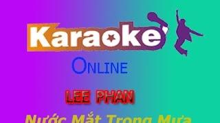 karaoke- Nước Mắt Trong Mưa