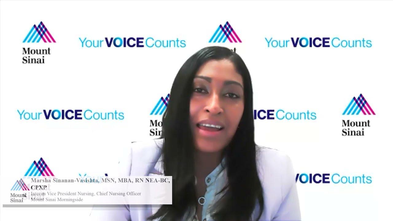 Nurses Week 2021 - Marsha Sinanan-Vasishta MSN, MBA, RN NEA-BC, CPXP