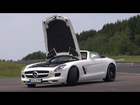 Mercedes-Benz SLS AMG Roadster - Brutal REVS & Fast Accelerations!