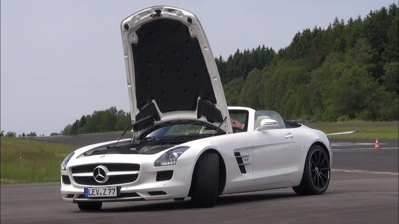 Delightful Mercedes Benz SLS AMG Roadster   Brutal REVS U0026 Fast Accelerations!   YouTube