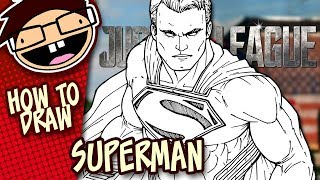 How to Draw SUPERMAN (Justice League)   Narrated Easy Step-by-Step Tutorial