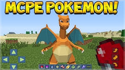 Minecraft Pocket Edition - NEW Pokemon Mod! Pixelmon On Minecraft Pocket Edition