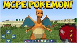 Minecraft Pocket Edition - NEW Pokemon Mod! Pixelmon On Minecraft Pocket Edition