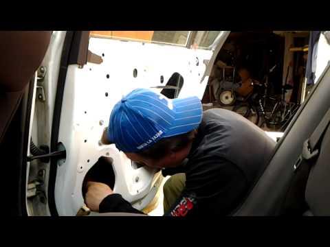 Chevrolet Cruze Sedan Вибро-шумоизоляция задней двери.