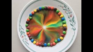 Science Experiment: M&Ms Rainbow