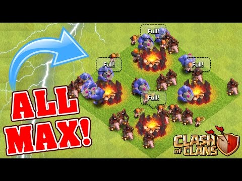 Clash Of Clans | ALL NEW TROOPS / LEVELS MAXED OUT!! Gemming New Max Level Troops 2016!