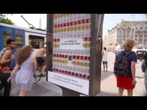 McDonald's temperature sensitive panel gives out free McFlurry ice creams | JCDecaux Netherlands