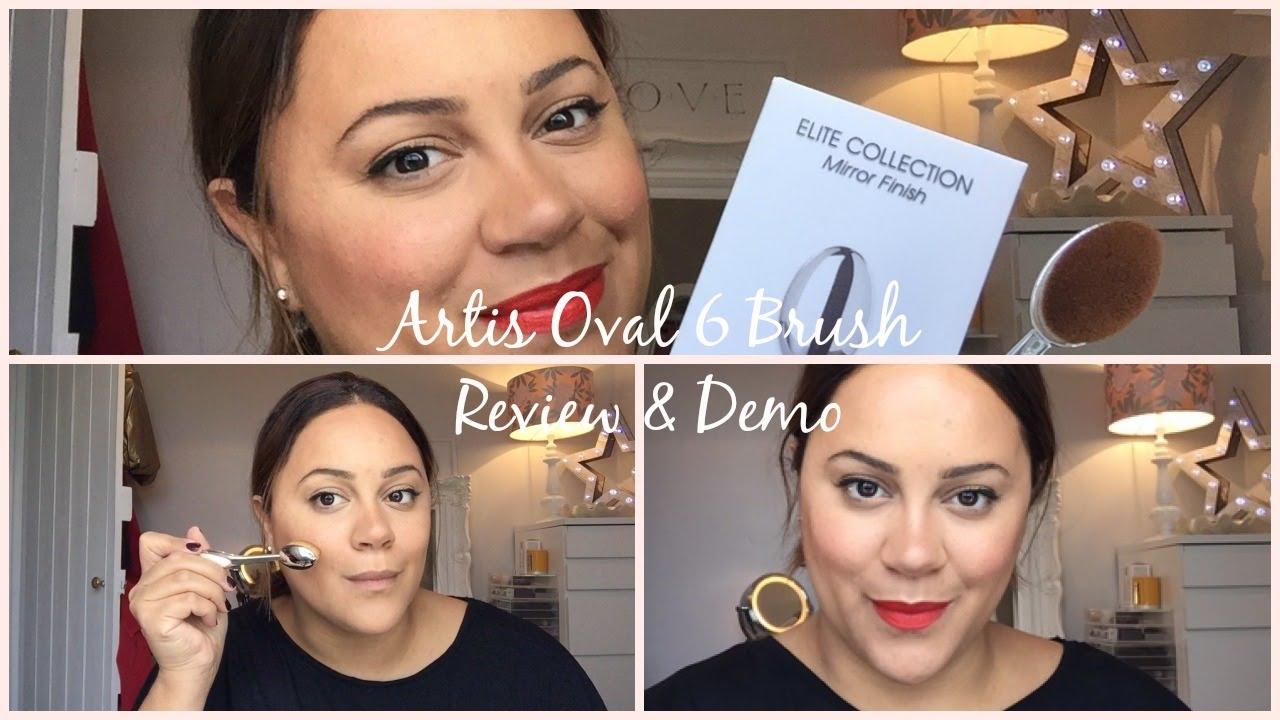 Artis Makeup Brush Oval 6 Elite Review Demo Nars Foundation Look