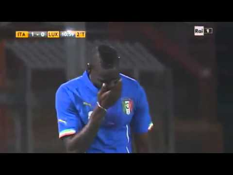 Mario Balotelli Incredible Miss ! Italy vs Luxemburg - Friendly Match - 2014