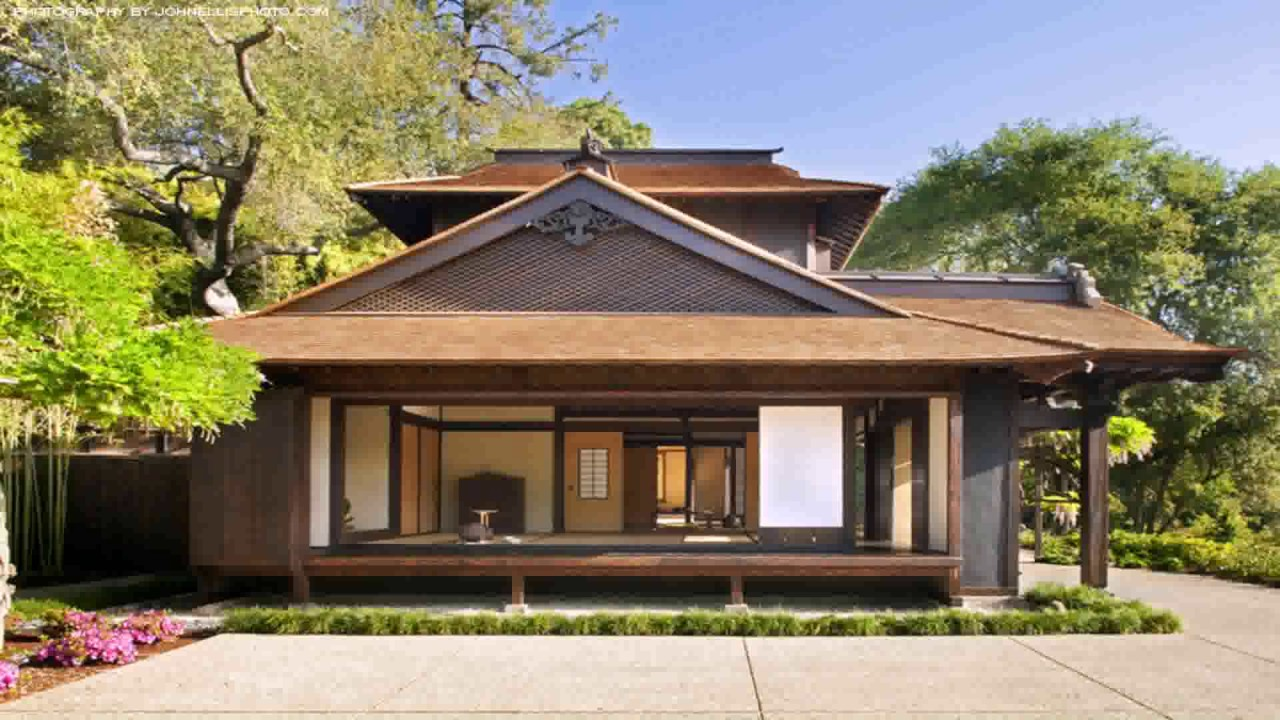 Japanese style house in california youtube for Traditional house building
