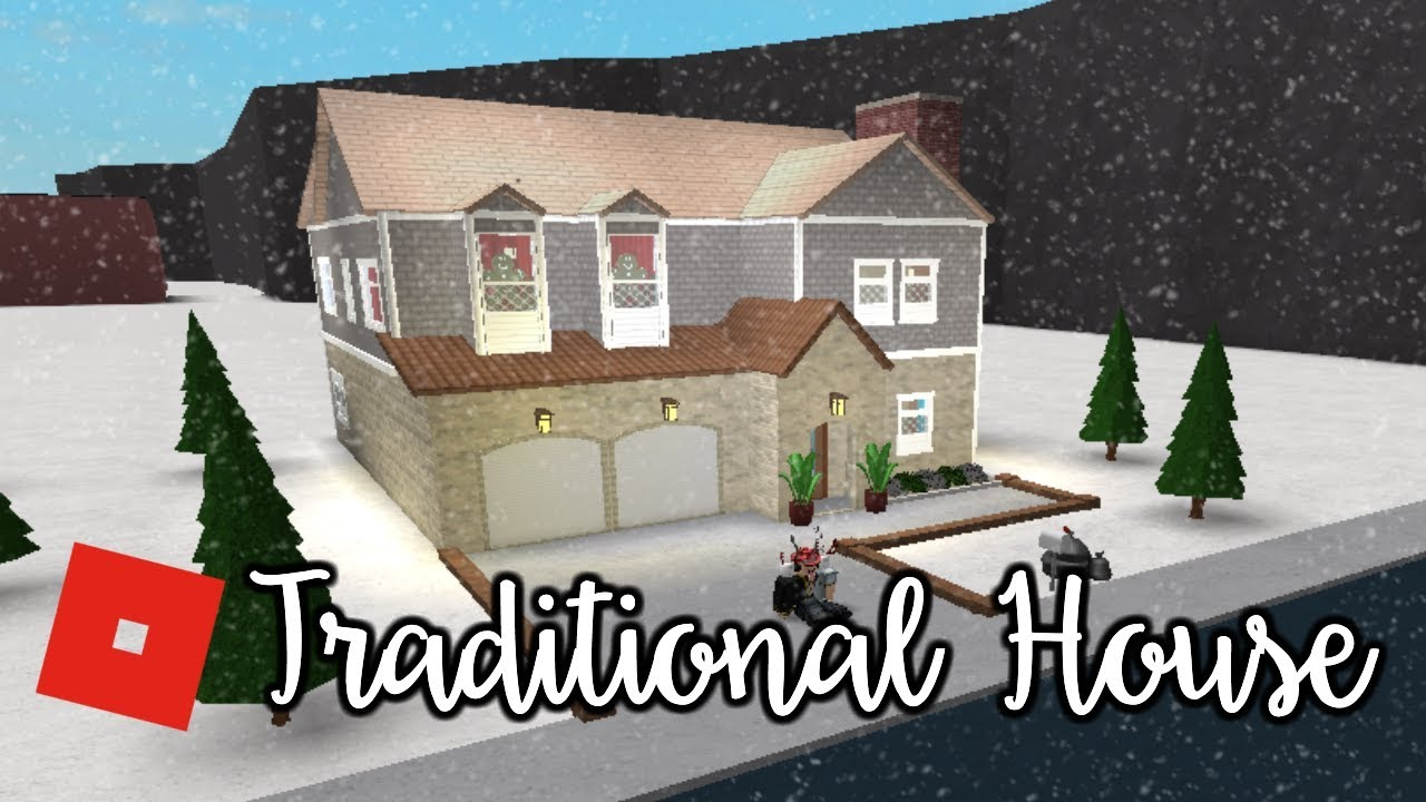 Welcome To Bloxburg Traditional House Speed Build Youtube