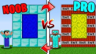 Minecraft Battle NOOB vs PRO - SWAPPED PORTAL in Minecraft Challenge