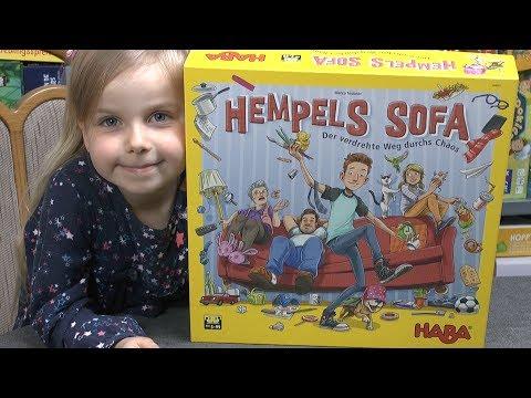 """Hempels Sofa (Haba) - ab 5 Jahre - Zirkelspiel auf einen """"riesen"""" Spielplan!"""