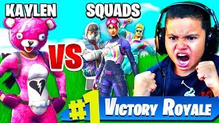 10 Year Old Kid Plays SOLO VS SQUADS FOR THE FIRST TIME EVER!!! FORTNITE BATTLE ROYALE SO MANY KILLS