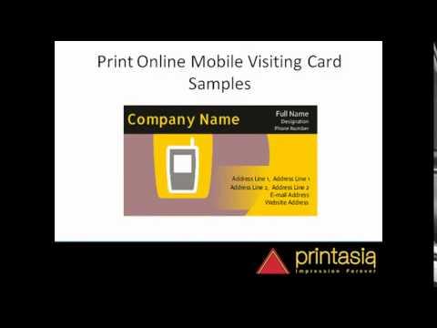 Mobile shop visiting card samples printasia in - YouTube