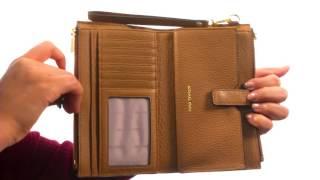 MICHAEL Michael Kors Adele Double Zip Wristlet 7+  SKU:8954420