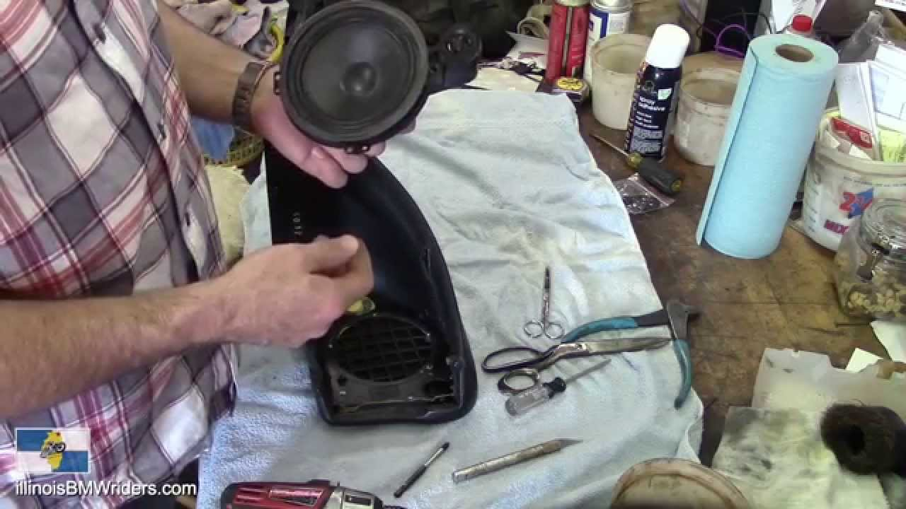 BMW K1200LT DIY Renewing the Speaker Covers - New Upholstery