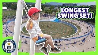 Longest Swing Set in the World! - Meet The Record Breakers Japan