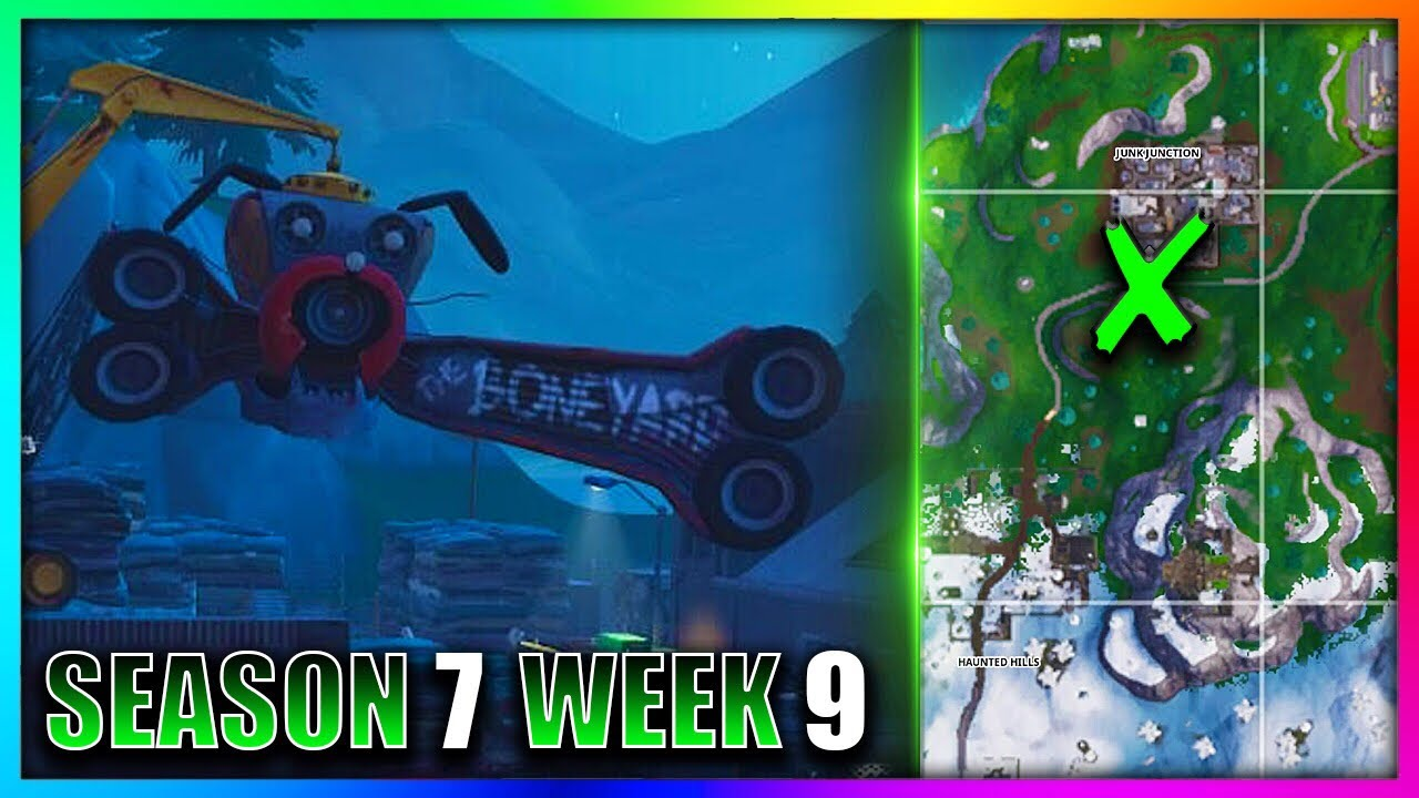 dance on top of a giant metal dog head fortnite week 9 location guide - fortnite challenges dance on top of a giant metal dog head