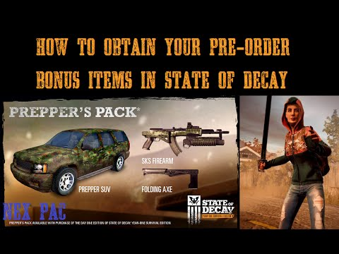 state of decay 2 preppers pack unlock