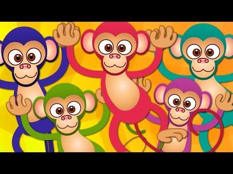 Five Little Monkeys | Kindergarten Nursery Rhymes For Babies