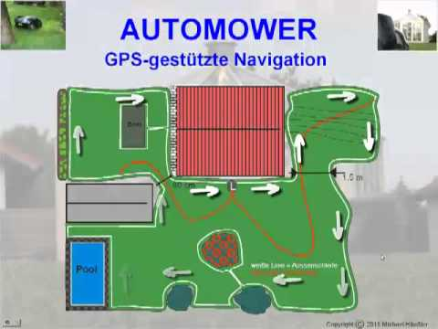 m hroboter automower 330 x gps navigation youtube. Black Bedroom Furniture Sets. Home Design Ideas