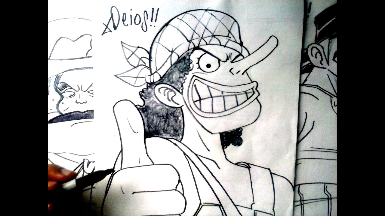 One piece mira y animate a dibujar al gran usopp xdeios for One piece dibujos