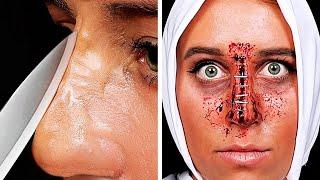как сделать страшный макияж на хэллоуин