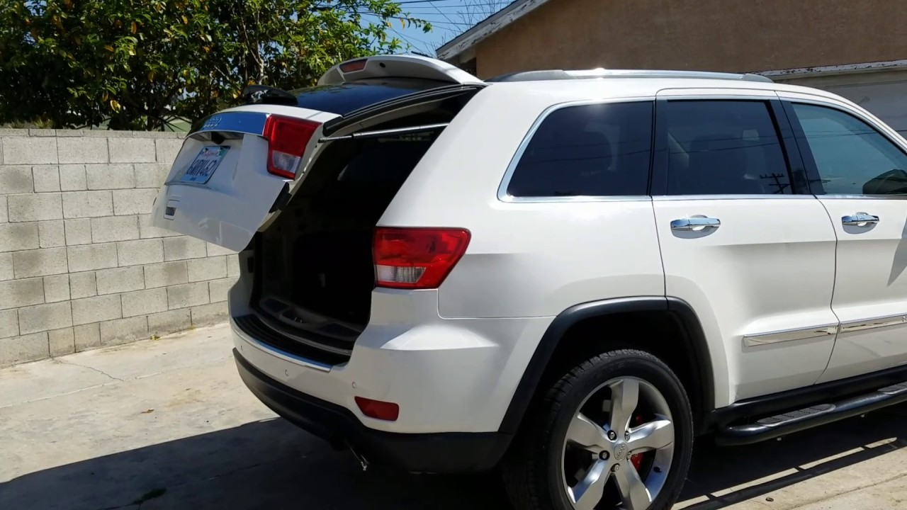 Grand Cherokee 2012 Electric Hatch Lift Support Not Working I Fixed