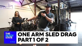 One Arm Sled Drag (1 of 2)