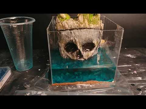 DIY Resin Water skull island  | Resin art DIY | Amazing artist