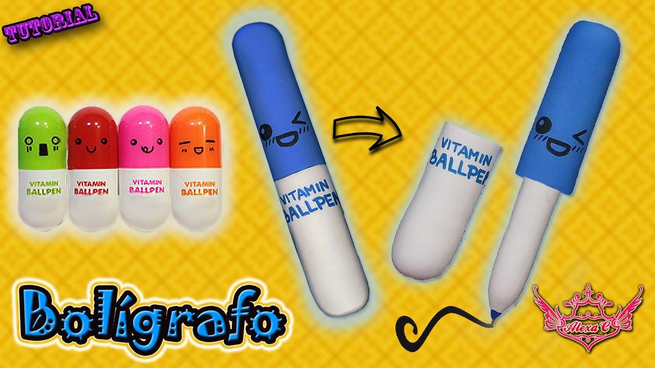 dise/ño de emoticonos novedad bol/ígrafos de punta de bola Favor regalo color al azar x 6 Mini retr/áctil vitamina p/íldora c/ápsula de pluma con seis