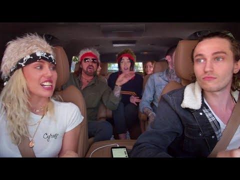 "Miley Cyrus & Family Sing Billy Ray's ""Achy Breaky Heart"" On Carpool Karaoke"
