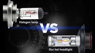 Тест Светодиодных ламп H4 с алиэкспресс. Сравнение с галогеном Осрам.