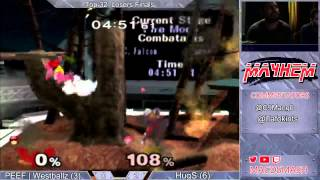 Mayhem June 2015 LF: Westballz (Fox/Falco/Falcon) vs HugS (Samus)
