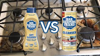 Barkeeper's Friend | Cleaning a Stove | Powder or Liquid??
