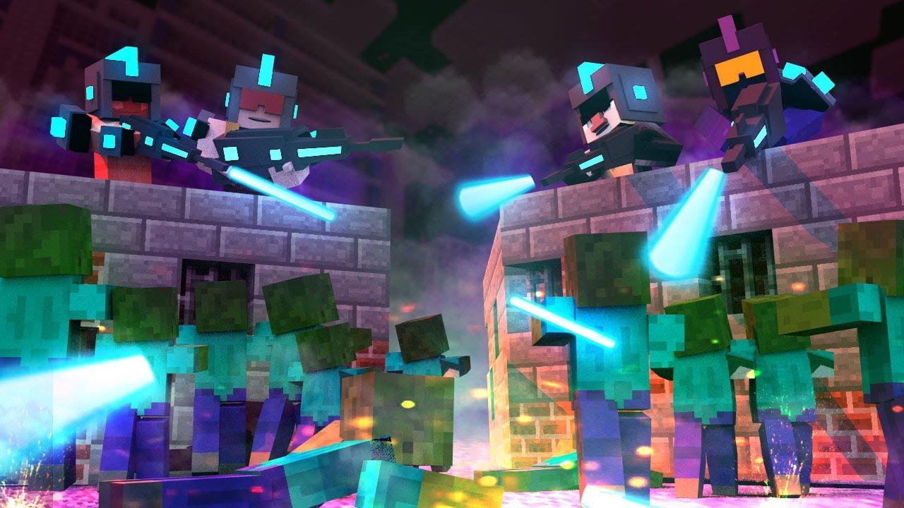 Minecraft BASE VS ZOMBIE CHALLENGE Build To Survive